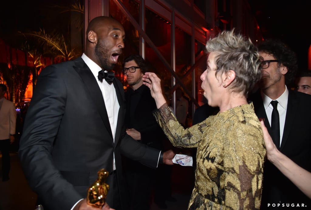 Pictured: Kobe Bryant and Frances McDormand