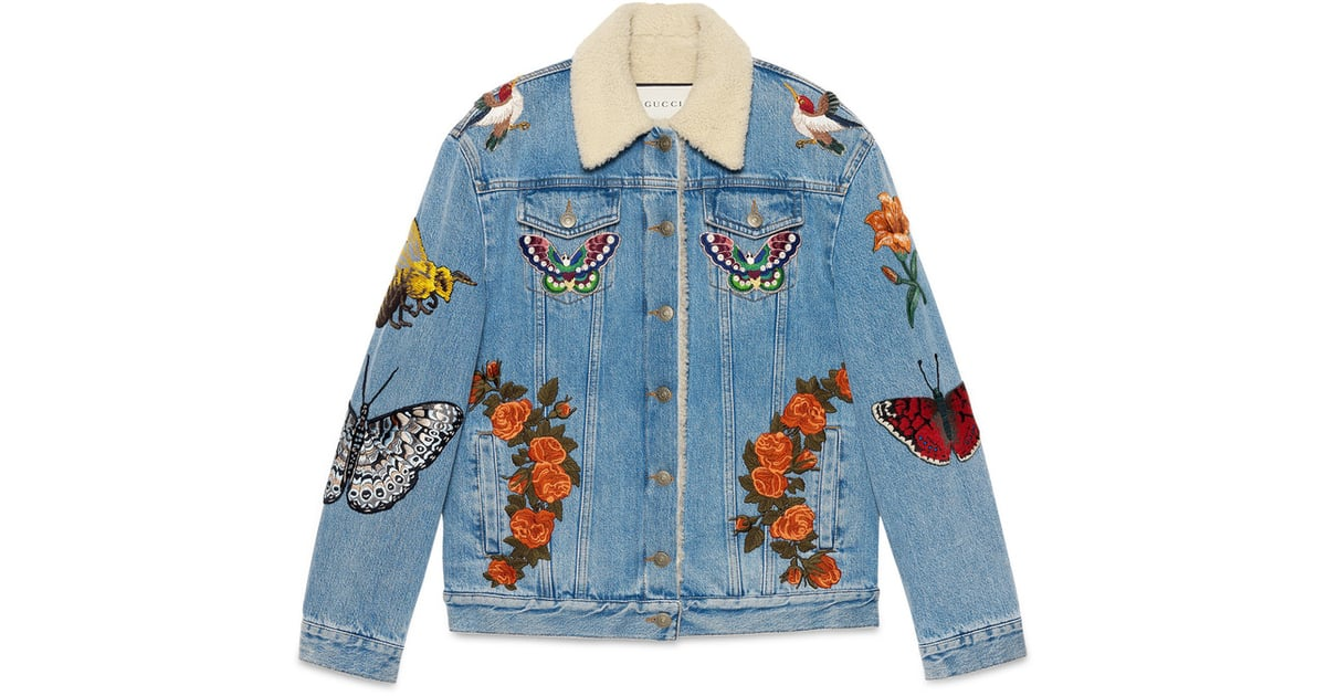 c45688295 Gucci Embroidered Denim Jacket | What to Buy From Gucci | POPSUGAR Fashion  UK Photo 7