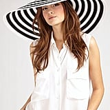 Eric Javits Striped Dip Brim Hat ($425)
