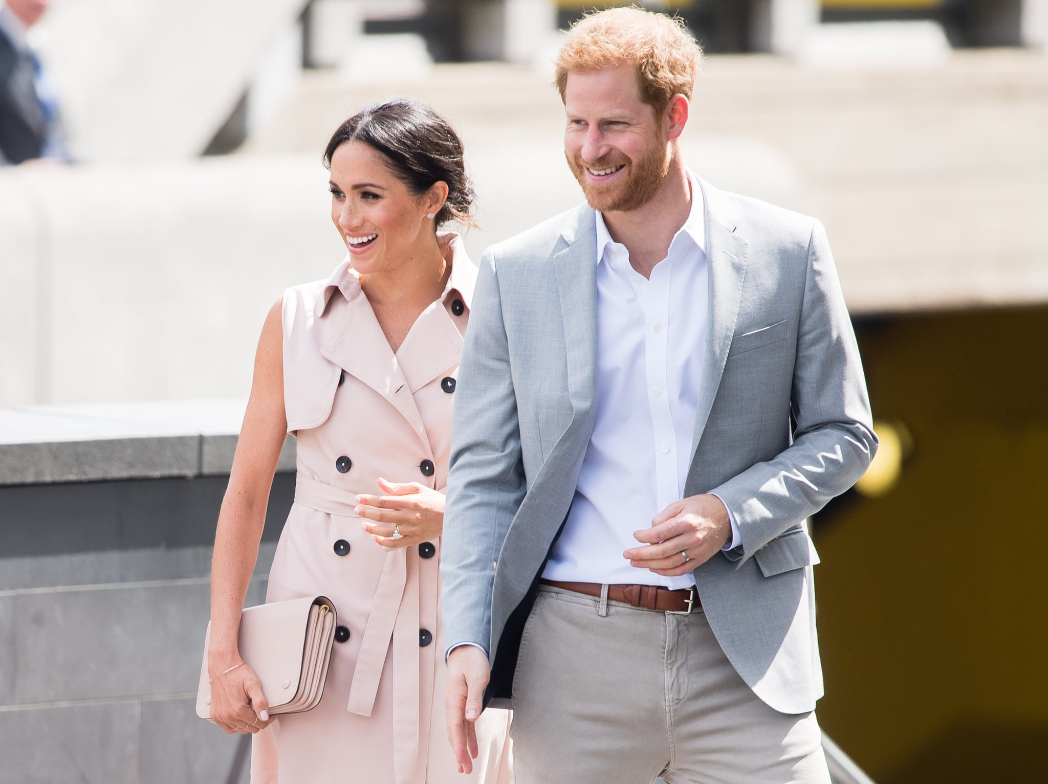 LONDON, ENGLAND - JULY 17:  Prince Harry, Duke of Sussex and Meghan, Duchess of Sussex visit The Nelson Mandela Centenary Exhibition at Southbank Centre on July 17, 2018 in London, England.  (Photo by Samir Hussein/Samir Hussein/WireImage)
