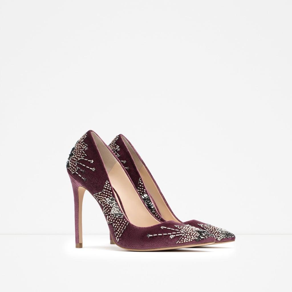 3f9ed2deb11 Zara Embroidered High Heel Shoes ( 119)