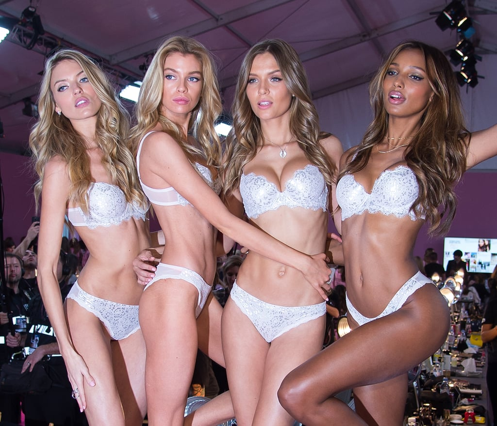 Pictured: Jasmine Tookes, Martha Hunt, Josephine Skriver, and Stella Maxwell