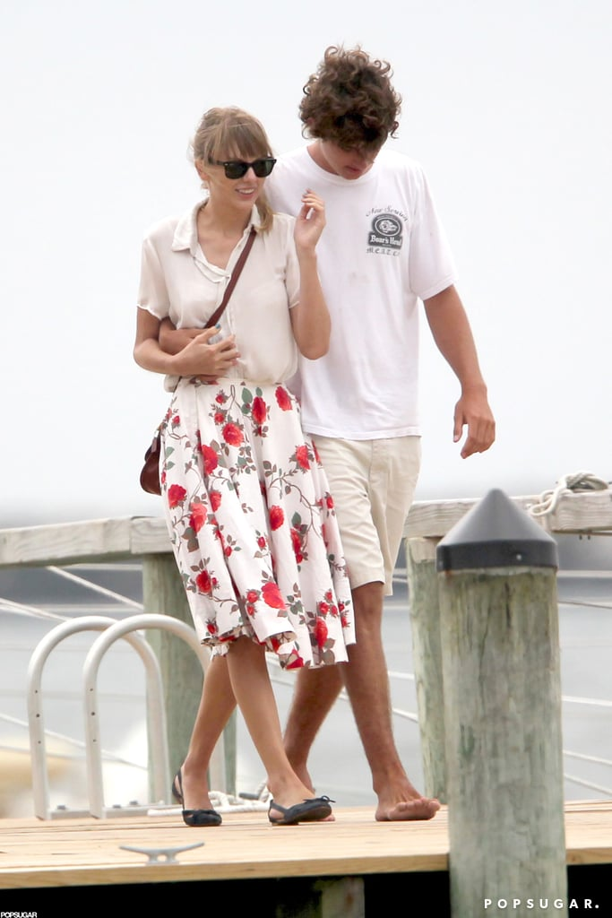 Taylor Swift popped up in Hyannis Port, MA, over the weekend for a getaway with the Kennedys. She was spotted holding hands with Conor Kennedy, Robert Kennedy Jr.'s son, and hanging out with other family members. Taylor and Conor looked cozy as they ate pizza on the porch Friday and they were back together Saturday to go sailing with a group. Taylor's visited the Kennedy compound before — on the Fourth of July, rumors suggested Taylor was dating Patrick Schwarzenegger when they were spotted there. In between her East Coast vacations, Taylor traveled to LA to attend the Teen Choice Awards and met up with pal Selena Gomez in Malibu.