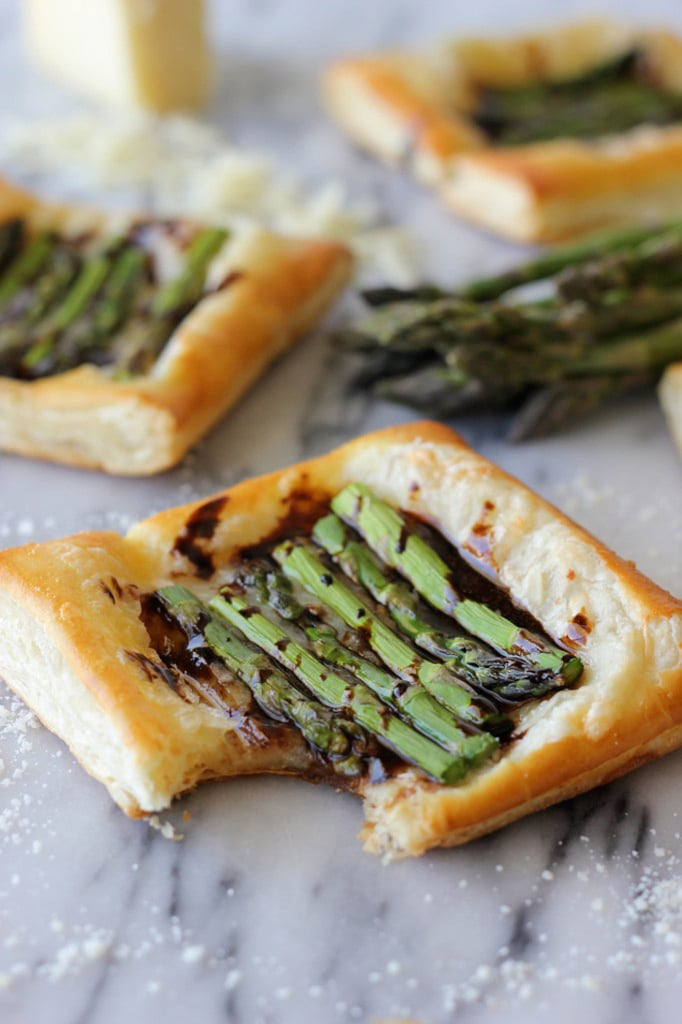 Asparagus Tart With Balsamic Reduction