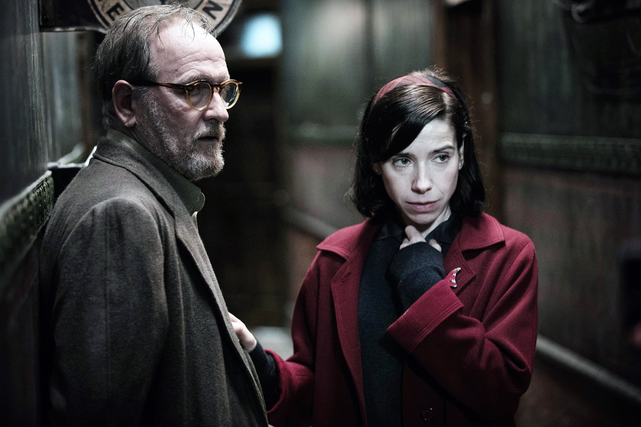 THE SHAPE OF WATER, from left, Richard Jenkins, Sally Hawkins, 2017. ph: Kerry Hayes. Fox Searchlight Pictures. All Rights reserved/courtesy Everett Collection