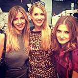 Laura Csortan, Nikki Phillips and Kate Waterhouse outside the Talulah show. Source: Instagram user nikkikphillips