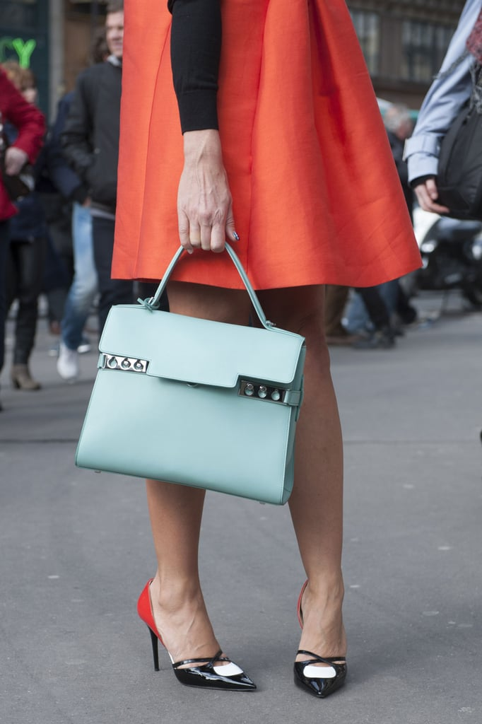 We're just admiring this sweet color combination — oh, and that bag.