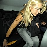 Chelsy Davy's night out in London.