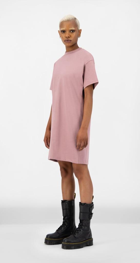 Mauve Pink Derib Dress