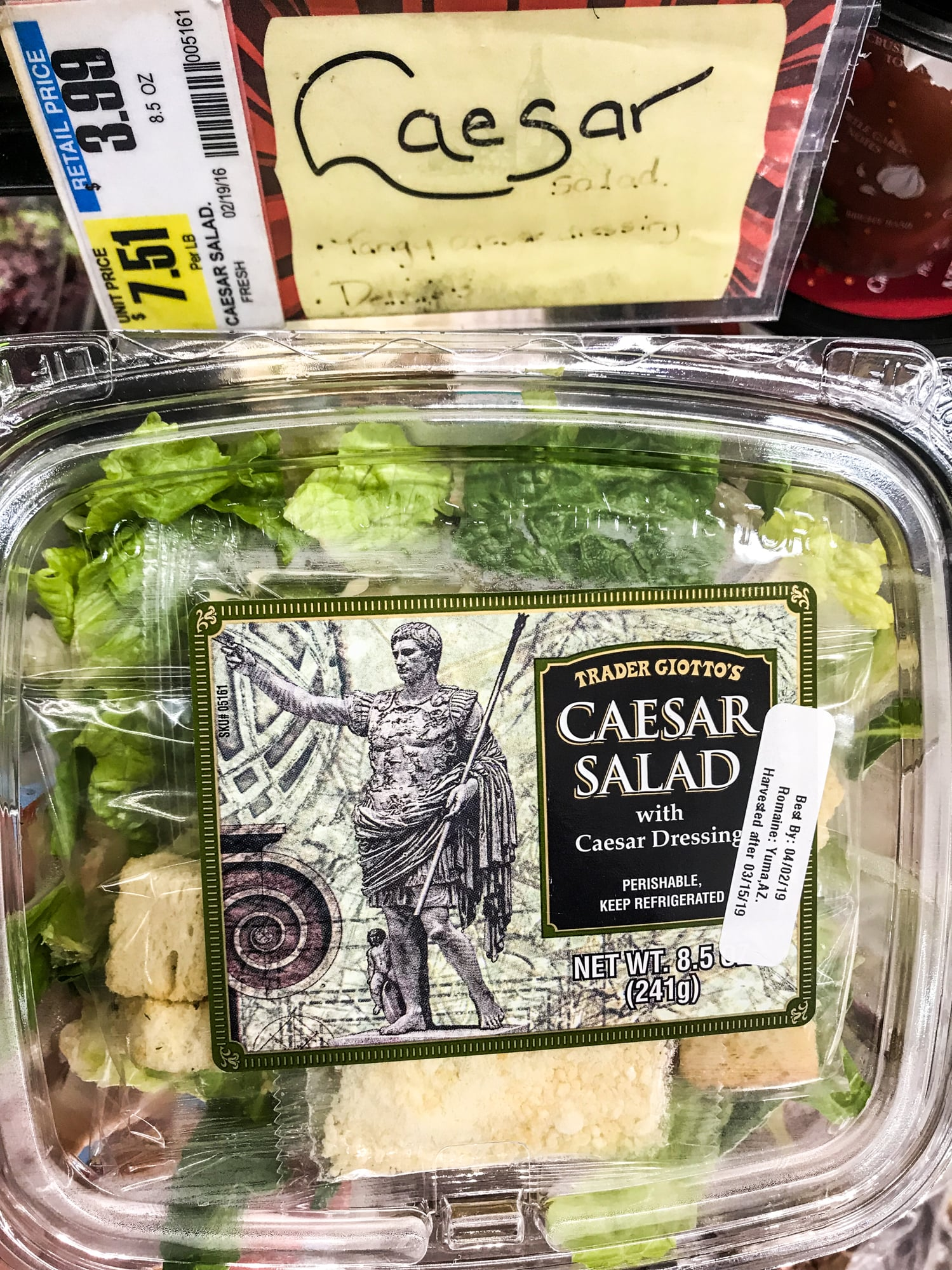 Trader Joe's Caesar Salad   Hold Onto Your Forks! These Trader Joe's Salads  Are About to Shake Up Your Lunchtime Routine   POPSUGAR Fitness Photo 29