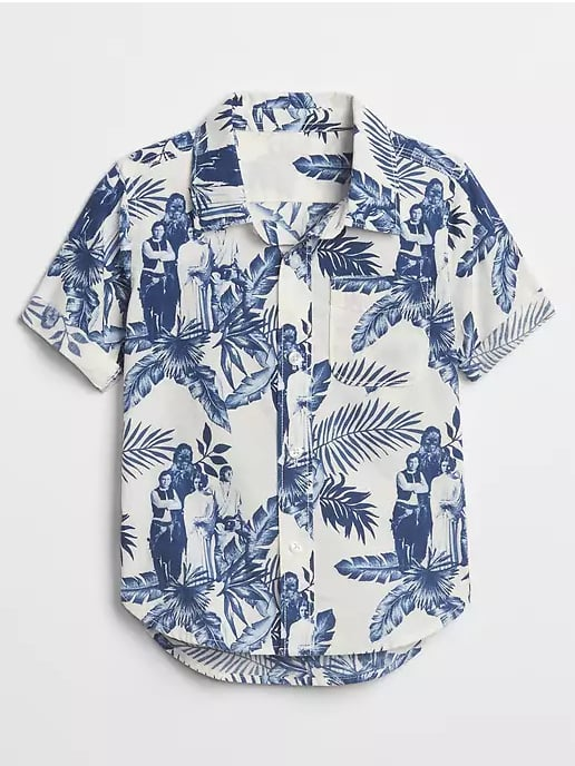 Hawaiian Print Short-Sleeve Short