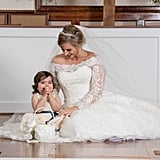 Cancer Survivor Flower Girl at Bone Marrow Donor's Wedding
