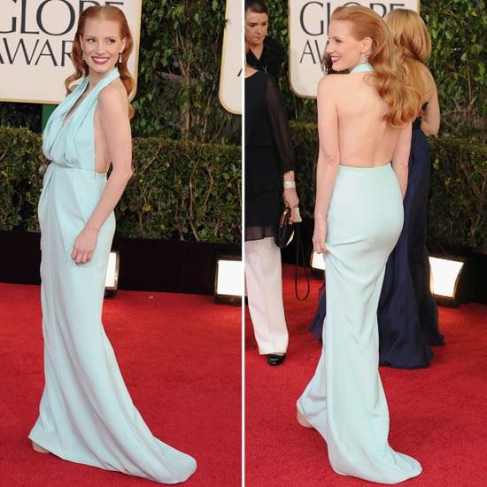 Jessica Chastain | Golden Globes Red Carpet Fashion 2013