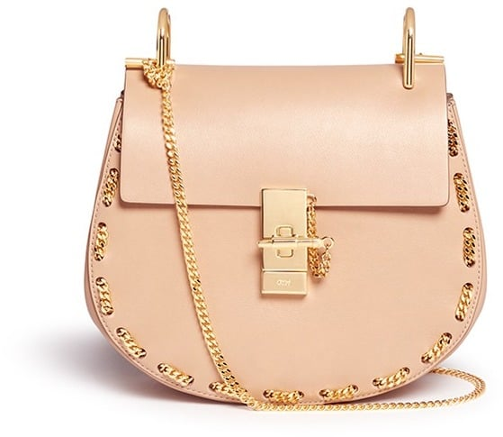 bb1e75e75f4f2 Chloé 'Drew' small chain border leather shoulder bag ($2,050 ...