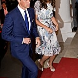 Prince William and Kate Middleton arrived at a dinner party in Singapore.