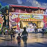 A mock-up of what the front of the revamped Toy Story Mania will look like.