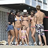 Alessanda Ambrosio and her daughter Anja Mazur posed with a group of girlfriends.