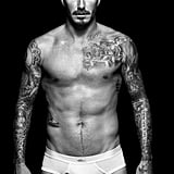 David Beckham wore just undies.