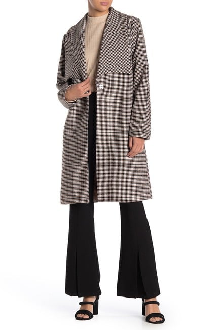 A Chic Plaid Coat