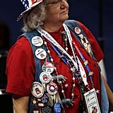A lady went all out with her RNC attire.