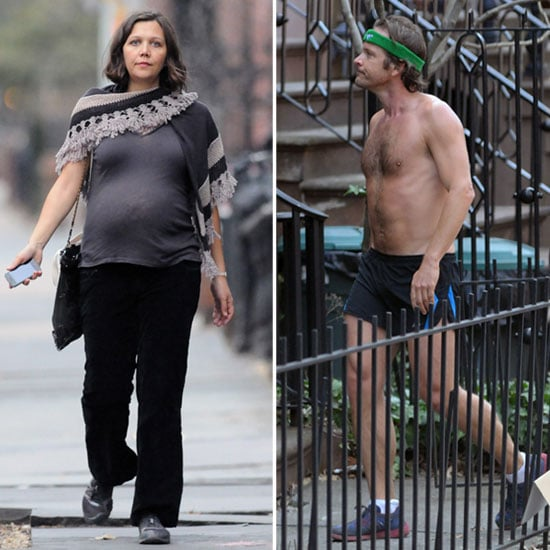 Maggie Gyllenhaal Shows Her Bump While Peter Sarsgaard Jogs Shirtless