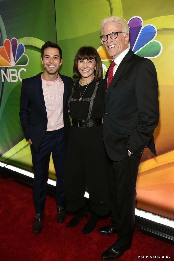 Anna Camp and Skylar Astin at NBC Upfronts 2019