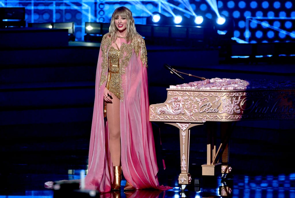 """Taylor Swift got pretty sentimental when she accepted the artist of the decade award at the American Music Awards on Sunday. Before taking home the artist of the year award later in the night, the """"Lover"""" singer performed a long medley featuring some of her greatest hits and gave a passionate speech as she accepted her award from Carole King.  Instead of addressing her ongoing feud with Scott Borchetta and Scooter Braun like many assumed she would during the show, she used her moment to stay positive, thanking her dedicated Swifties for all of their support over the past 10 years. """"All that matters to me is the memories that I've had with you guys,"""" she said. """"We've had fun, incredible, exhilarating, extraordinary times together . . . thank you for being the reason why I'm on this stage."""" Watch her full speech ahead."""