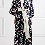 She'll never retire a silk patterned robe like this Olivia von Halle Queenie Amelia Silk-Satin design ($1,035).