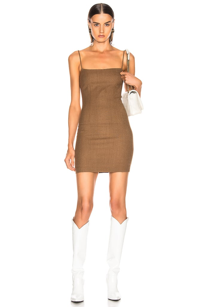 Kendall's Zeynep Arcay Wool Mini Dress in Taba