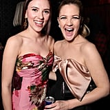 Scarlett spent time with Drew Barrymore at the premiere party for their film He's Just Not That Into You in 2009.