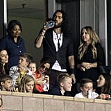 Victoria and Harper Beckham at David's Soccer Game | Picture