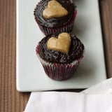 Double-Chocolate Cupcakes With Peanut Butter Center