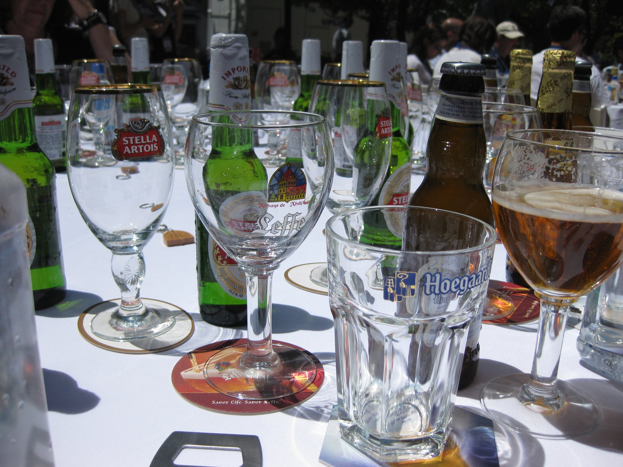 Each of the three beers required a special glass.