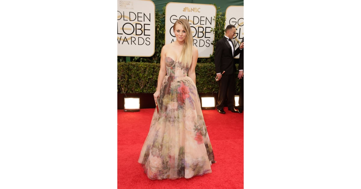 Kaley Cuoco Golden Globes 2014 At The