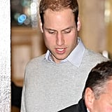 Prince William Visiting Pregnant Kate Middleton at Hospital
