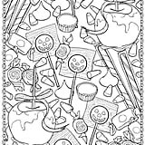 Get the coloring page: candy