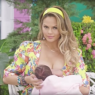 Chrissy Teigen Breastfeeding Moments