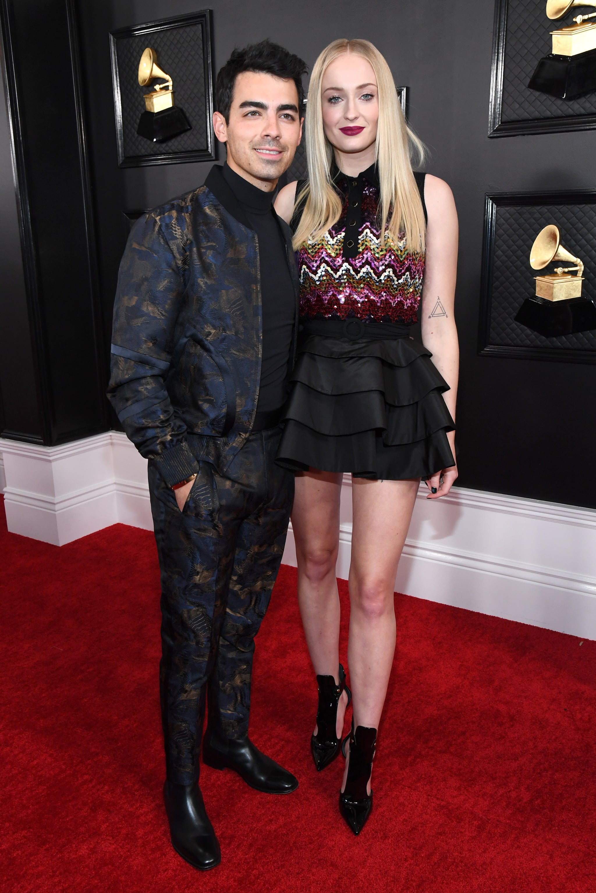 LOS ANGELES, CALIFORNIA - JANUARY 26: Joe Jonas and  Sophie Turner attend the 62nd Annual GRAMMY Awards at STAPLES Centre on January 26, 2020 in Los Angeles, California. (Photo by Kevin Mazur/Getty Images for The Recording Academy)