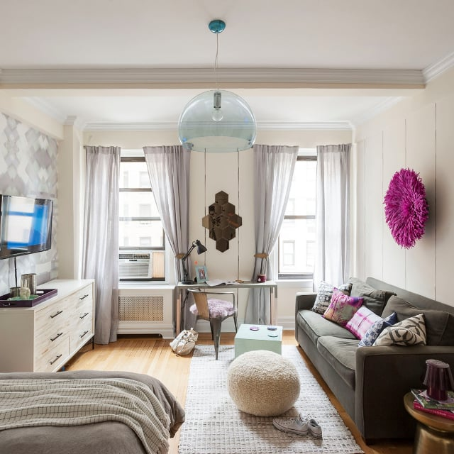 small apartment living room.  Studio Apartment Ideas POPSUGAR Home