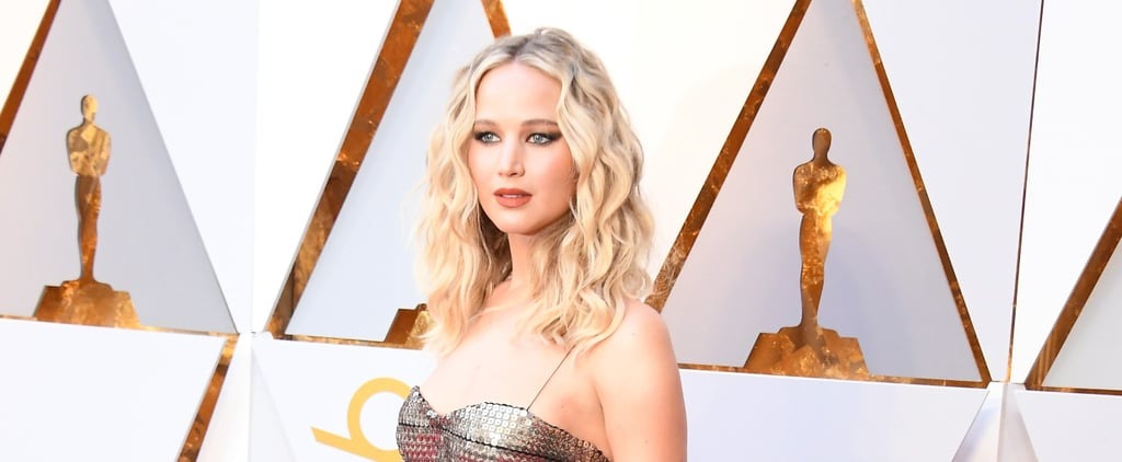 Jennifer Lawrence's Shiny Oscars Dress Is So Beautiful, We're at a Loss For Words