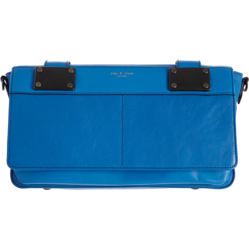 Just in time for your latest round of Summer parties: Rag & Bone's Pilot clutch ($359, originally $595) in azure  blue.