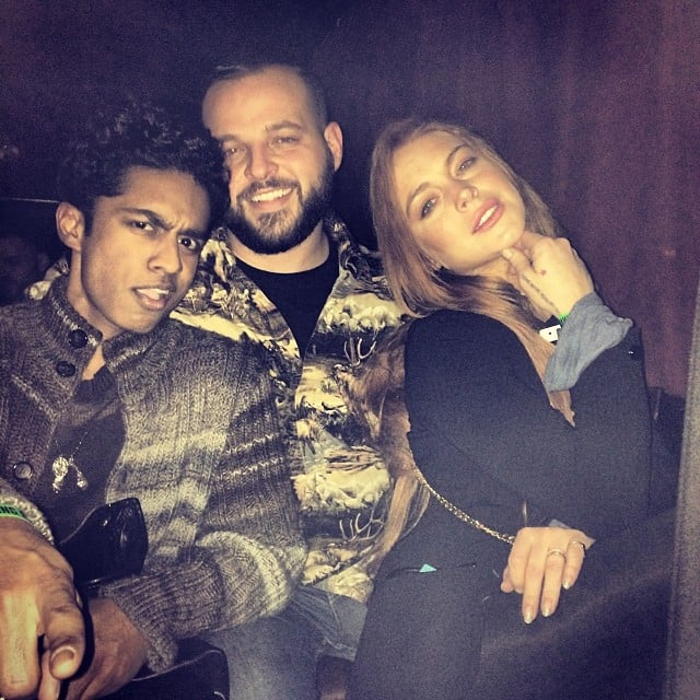 It's Kevin G, Damian and Cady! Also known as Rajiv Surendra, Daniel Franzese and Lindsay Lohan. One of the hashtags for this photo was #youcantsitwithus. Source: Instagram user lindsaylohan
