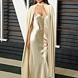 And Eiza Gonzalez's Unique Dress at the Vanity Fair Oscars Party
