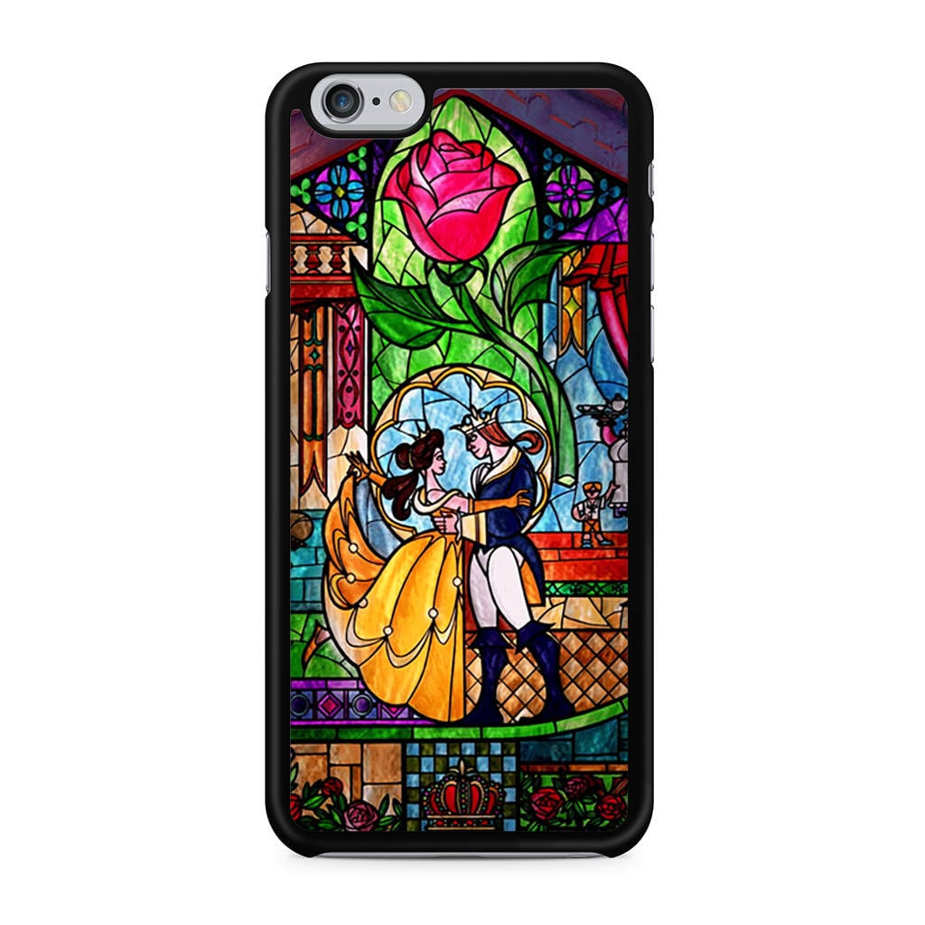 """<product href=""""https://www.casepersona.com/products/beauty-and-the-beast-stained-glass-iphone-6-case-a06hab0415?utm_medium=cpc&utm_source=googlepla&gclid=CIaJ-ZncwtICFVRMDQodmmIMJw"""">Stained Glass</product> ($14)"""