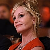 Melanie Griffith attended a dinner in honor of Jeffrey Katzenberg at CinemaCon in Las Vegas.