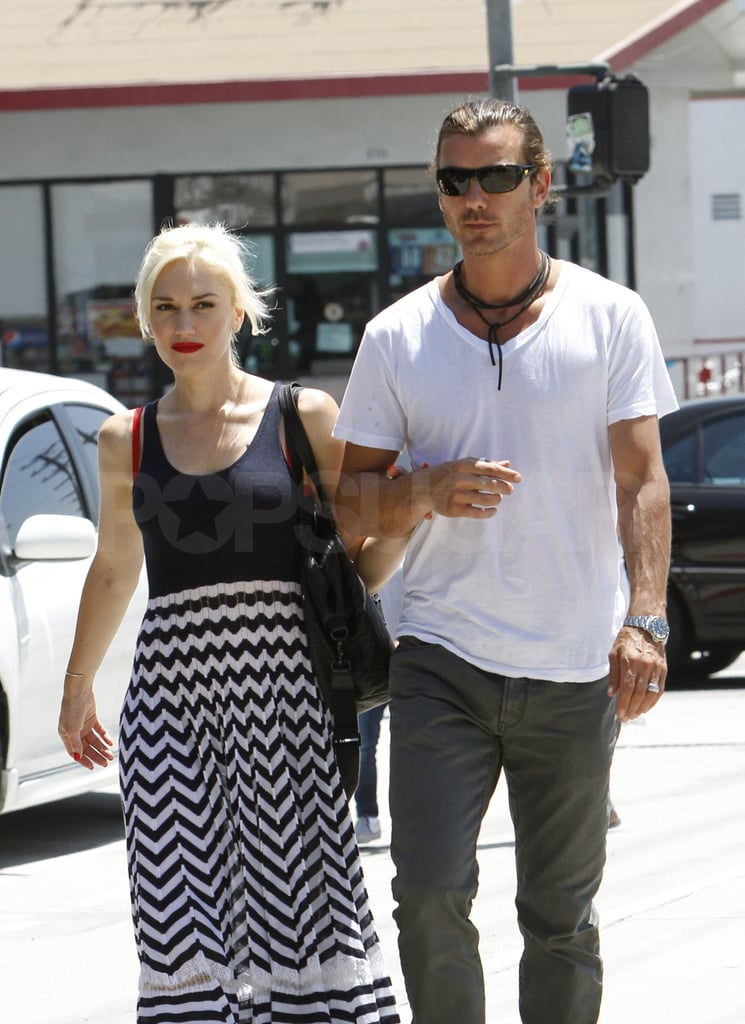 Gwen Stefani and Gavin Rossdale at lunch.