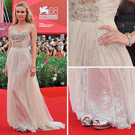 Pictures of Diane Kruger in Elie Saab at the Premiere of The Ides of March at the 2011 Venice Film Festival