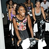While everyone else was hitting up SoulCycle, Venus Williams caused a spin over at Flywheel!
