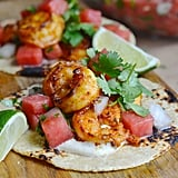 Shrimp Tacos With Watermelon Pico de Gallo