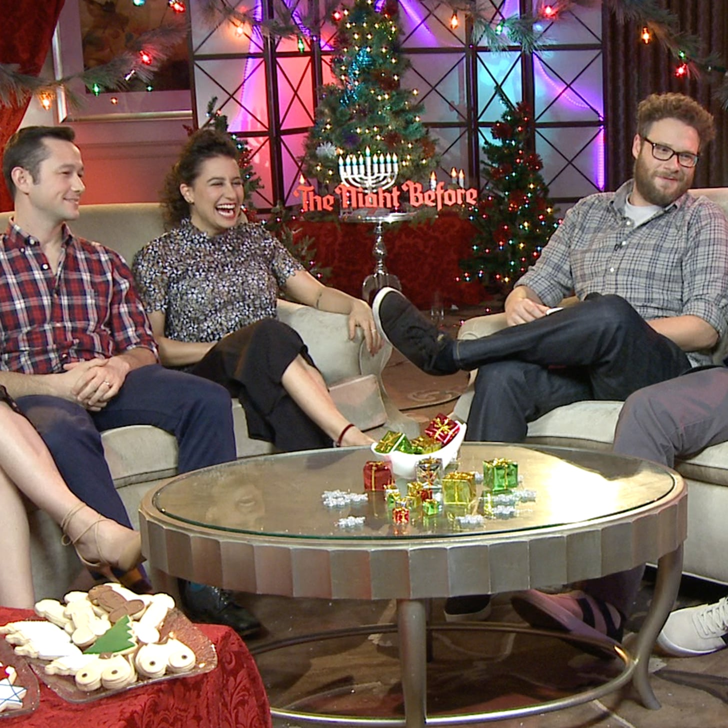 The Night Before Cast Interview (Video) | POPSUGAR Celebrity